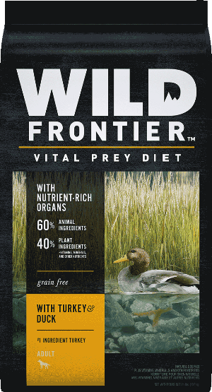 Wild Frontier Vital Prey Diet Grain Free Turkey & Duck Recipe Puppy Dry Dog Food