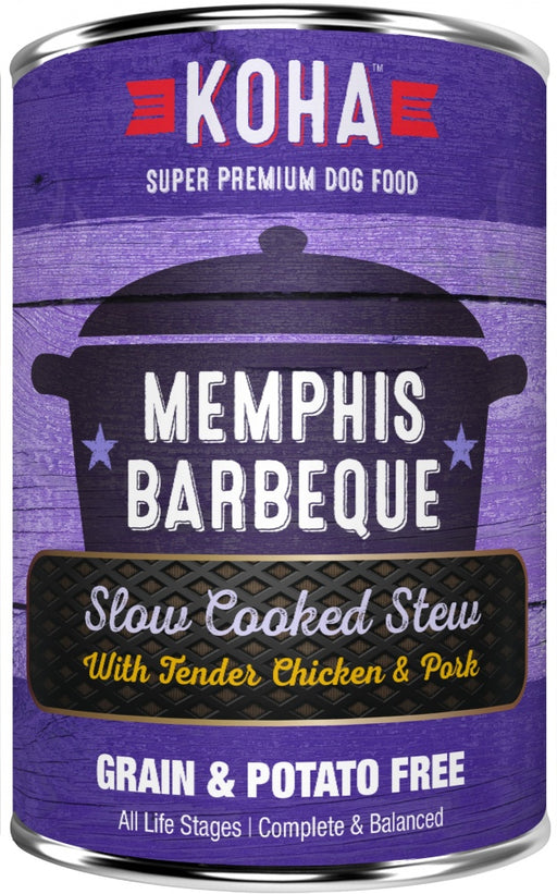 KOHA Grain & Potato Free Memphis Barbecue Slow Cooked Stew with Chicken & Pork Canned Dog Food