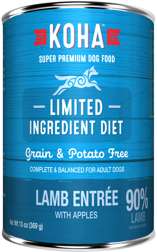 KOHA Grain & Potato Free Limited Ingredient Diet Lamb Entree with Apples Canned Dog Food