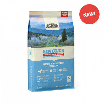 ACANA Singles + Wholesome Grains Limited Ingredient Diet Duck & Pumpkin Recipe Dry Dog Food