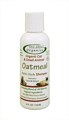 Mad About Organics All Natural Cat / Small Animal Oatmeal Anti-Itch Shampoo 4oz
