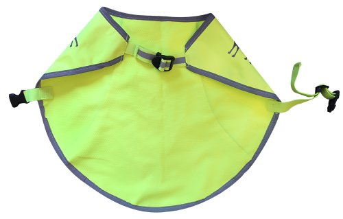Alcott Essentials Visibility Dog Vest - Neon Yellow with Reflective Accents AL