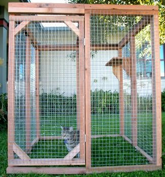 C & D Pet Products Economy Cat Enclosure Kit  4 ft. tall, 4 ft. deep,