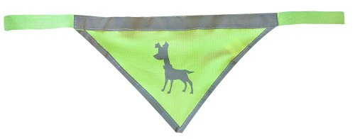 Alcott Essentials Visibility Dog Bandana - Neon Yellow with Reflective Accents