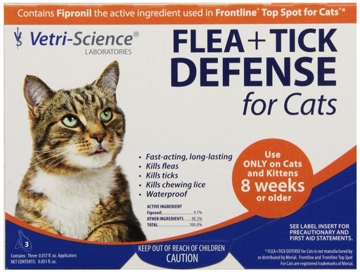 VetriScience Flea & Tick Defense Feline 3-Pack