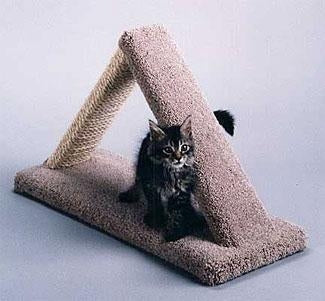 C & D Pet Products Cat Scratch Triangle Size: Base: 9.5 in. x 24.5 in. Triangle: 4.5 in. wide x 16 in. high
