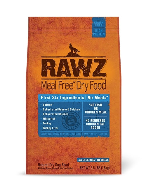 RAWZ Canine Salmon, Chicken, & Turkey Formula Kibble