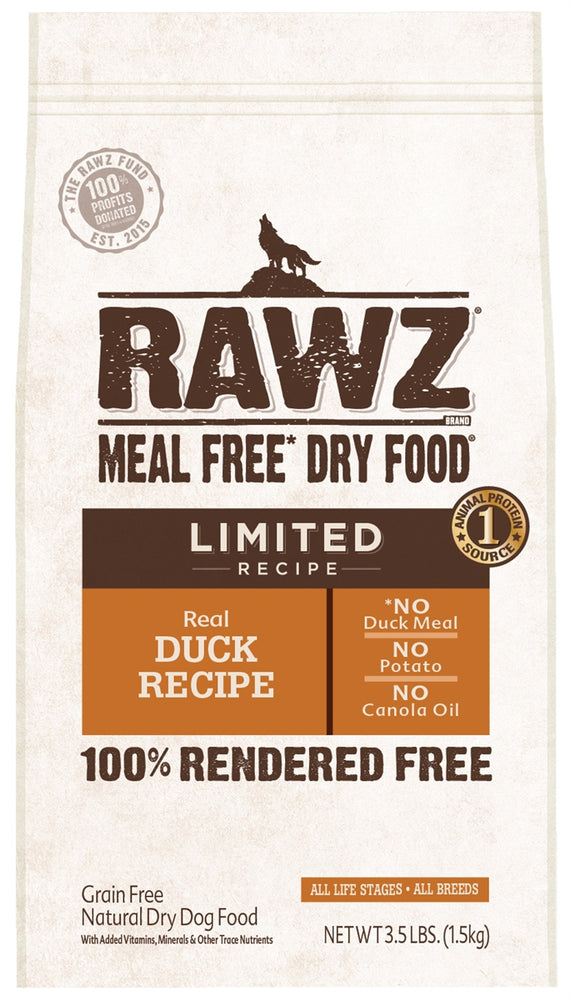 RAWZ Canine Limited Diet Duck Dry Dog Food