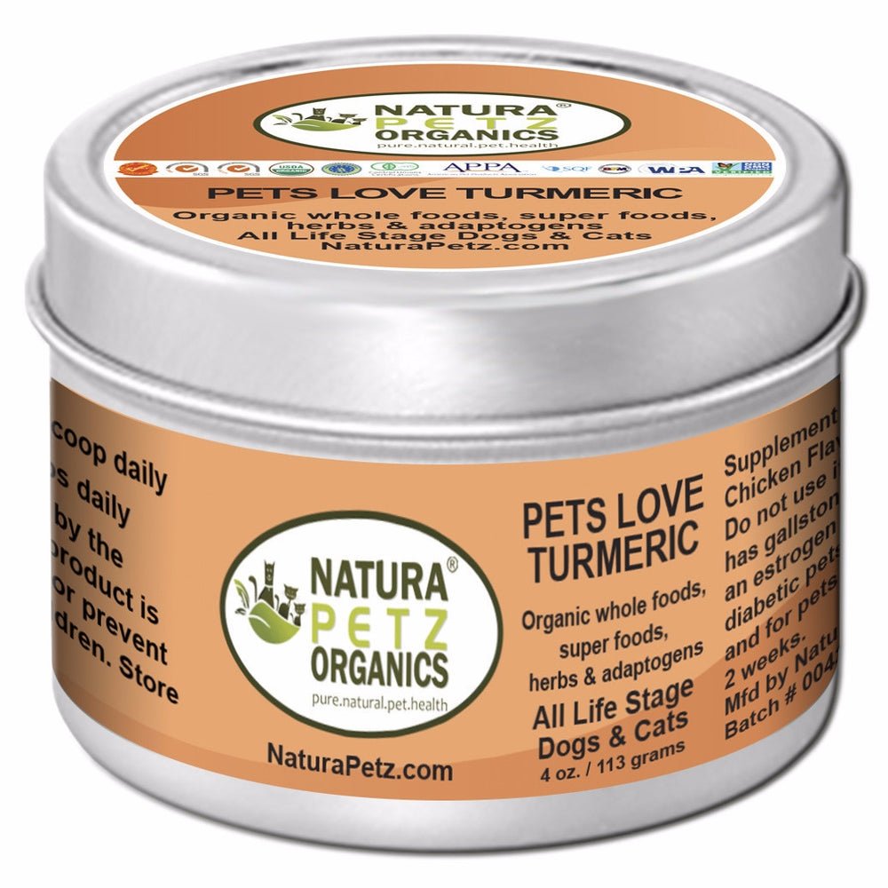 Pets Love Turmeric -  Anitoxidant, Immune Promoting Nutritional Meal Topper