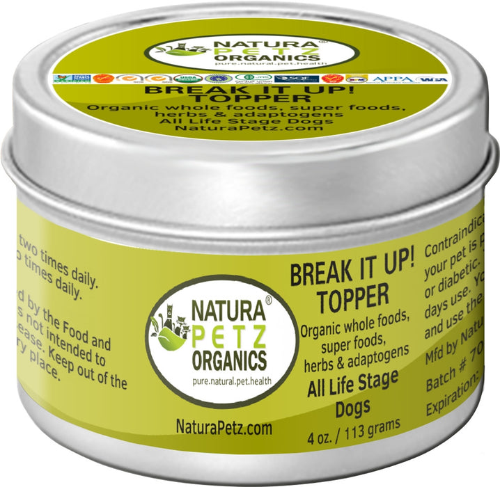 Break It Up! Stone Eliminator Meal Topper for Dogs and Cats - Flavored Meal Topper for Stones