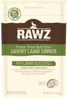 RAWZ Freeze Dried 95% Savory Lamb Dinner Dog Food
