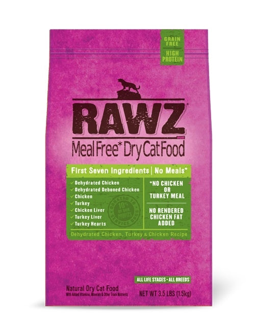 RAWZ Cat Chicken & Turkey Recipe Kibble