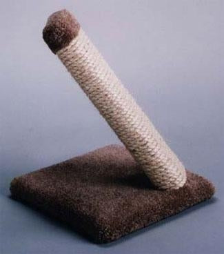 C & D Pet Products Single Sisal Scratcher Size: 12-1/2 in. x 12-1/2 in. x 16 in. tall