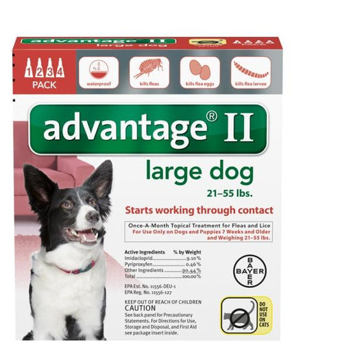 Advantage II Dog 4-Pack for Dogs between 21 and 55 lbs