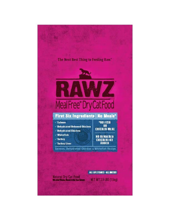 RAWZ Cat Salmon, Chicken, & Whitefish Recipe Kibble
