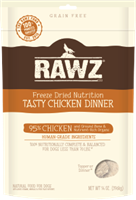RAWZ Freeze Dried 95% Tasty Chicken Dinner Dog Food