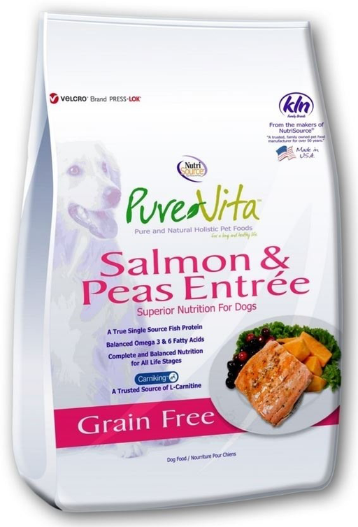 Pure Vita Grain Free Salmon and Pea Formula Dry Dog Food