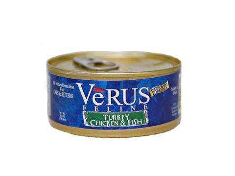 Verus Turkey, Chicken And Ocean Fish Formula Wet Cat Food