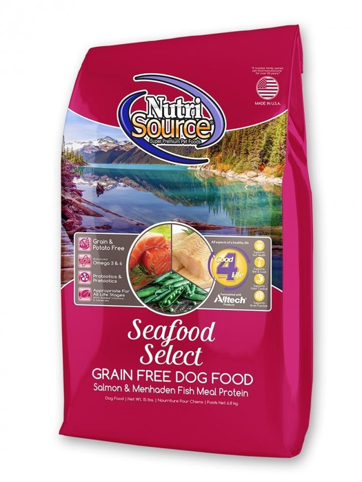 NutriSource Grain-Free Seafood Select with Salmon Dry Dog Food