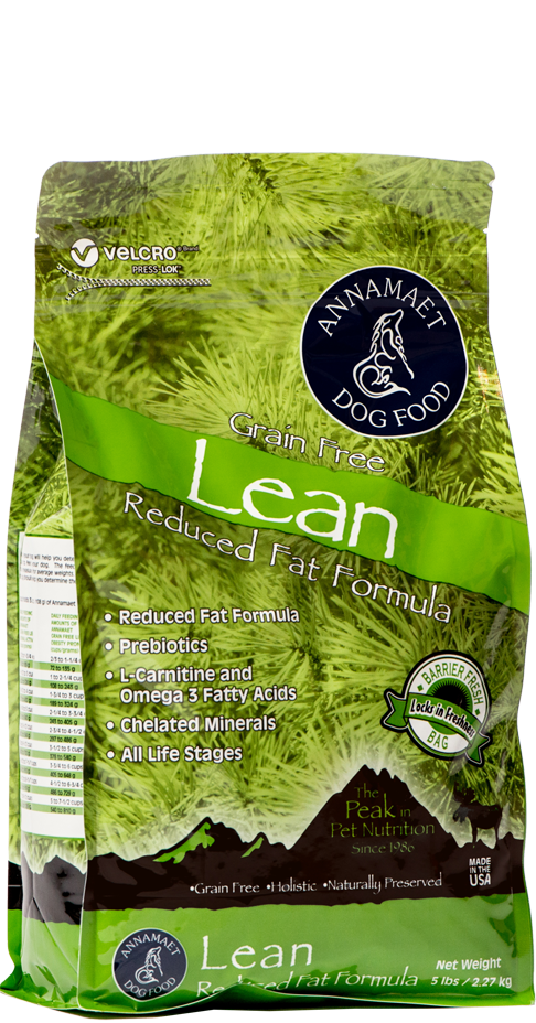 Annamaet Lean Reduced Fat Formula Grain-Free Dry Dog Food