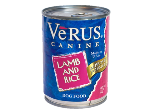 Verus Lamb And Brown Rice Formula Can Dog Food