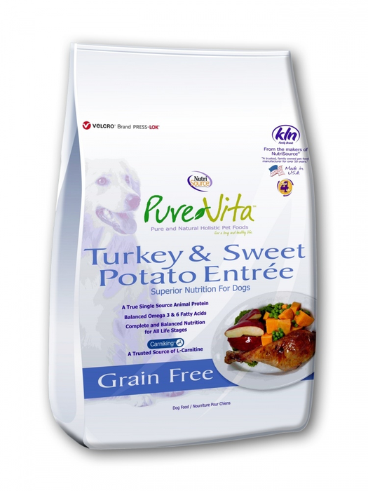 Pure Vita Turkey and Sweet Potato Dog