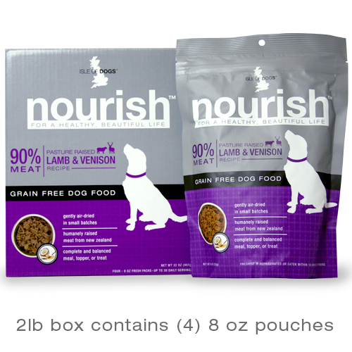 Isle of Dogs Nourish 90% Meat Pasture Raised Lamb & Venison Recipe Dry Dog Food