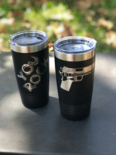 Guns & Guitars Logo 20 oz. Stainless Steel Vacuum Insulated Tumbler