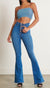 p1115 medium stone  vibrant nora button up flare jeans