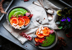 Creamy Spirulina Smoothie Bowl
