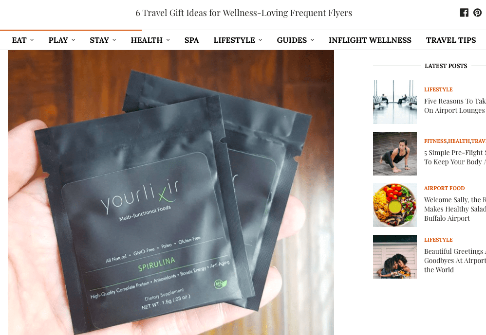 Vane Airport Magazine: 6 Gift Ideas for Wellness-Loving Frequent Flyers