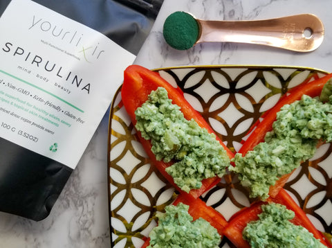 Yourlixir Superfoods Super Green Deviled Eggs Recipe