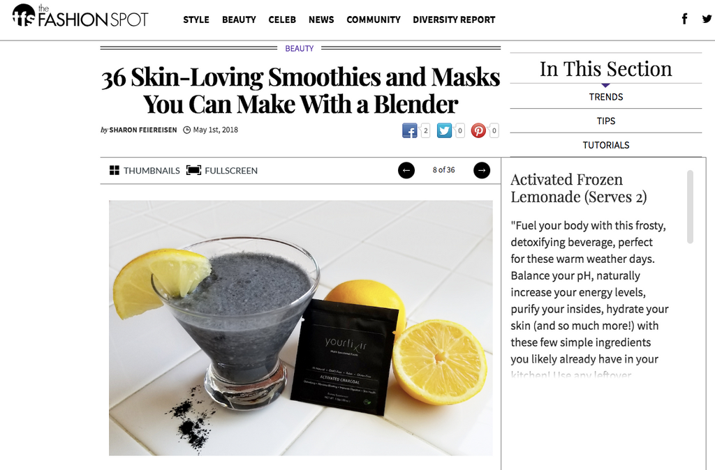 yourlixir superfoods the fashion spot skin loving beauty smoothies masks sharon feiereisen