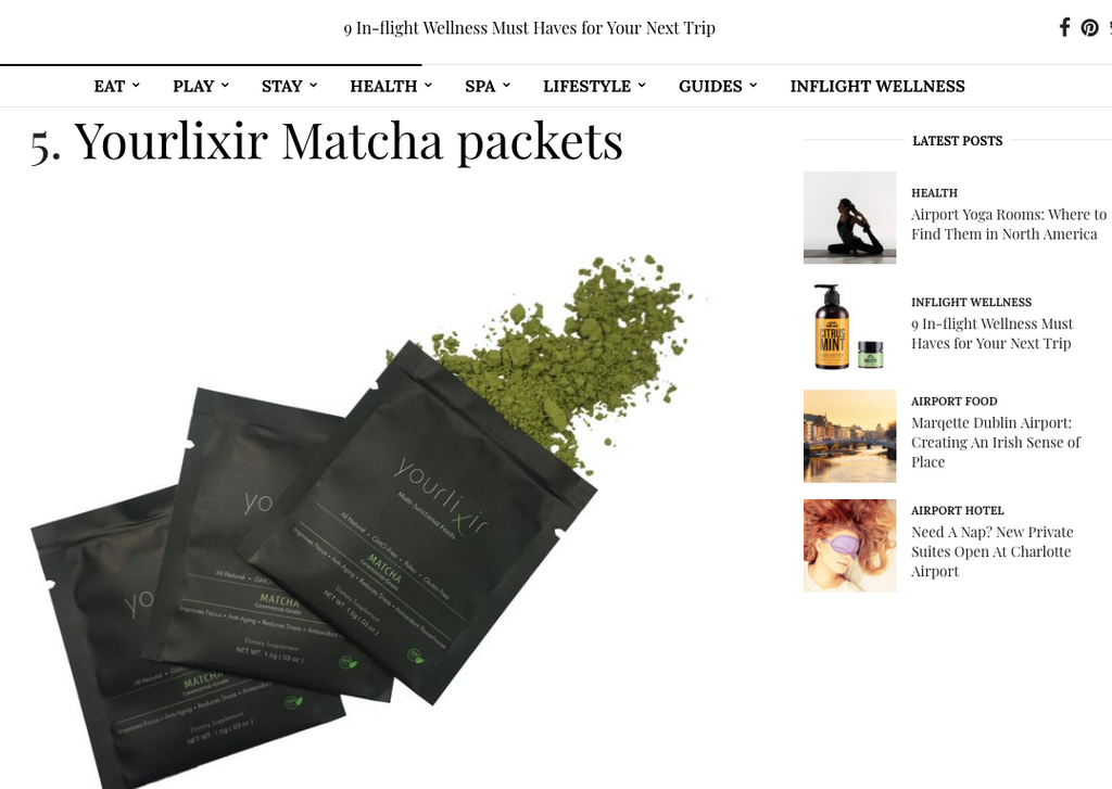 Vane Airport Magazine 9 in flight wellness must haves for your next trip yourlixir superfoods