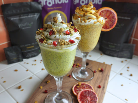 Yourlixir Superfood Turmeric Matcha Vegan Parfait