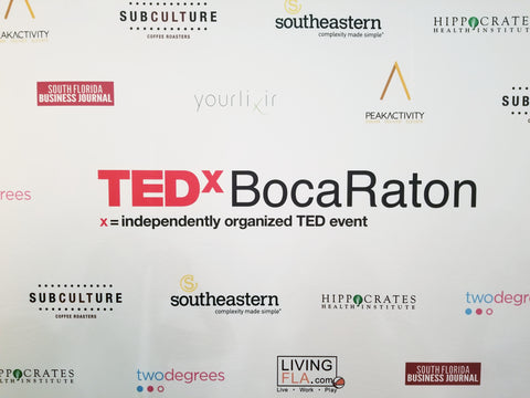 yourlixir tedxbocaraton step and repeat