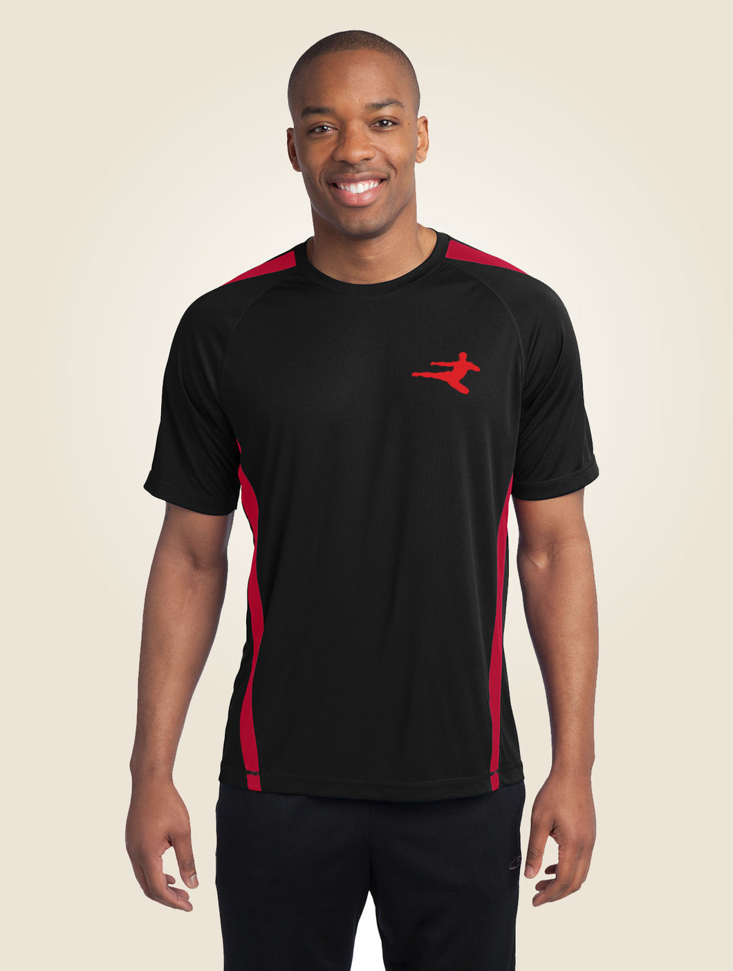 Kickboxer Silhouette Performance workout Shirt