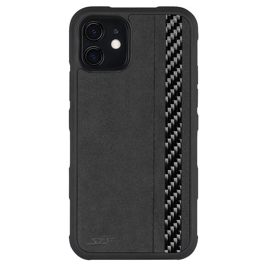 iPhone 11 Alcantara & Real Carbon Fiber Case | ARMOR Series