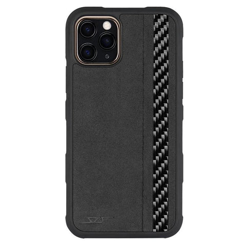 iPhone 11 Pro Alcantara & Real Carbon Fiber Case | ARMOR Series