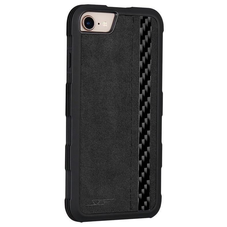 iPhone 6/7/8 Alcantara & Real Carbon Fiber Case | ARMOR Series