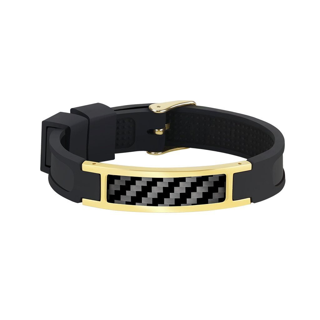 Real Carbon Fiber Bracelet (GOLD)