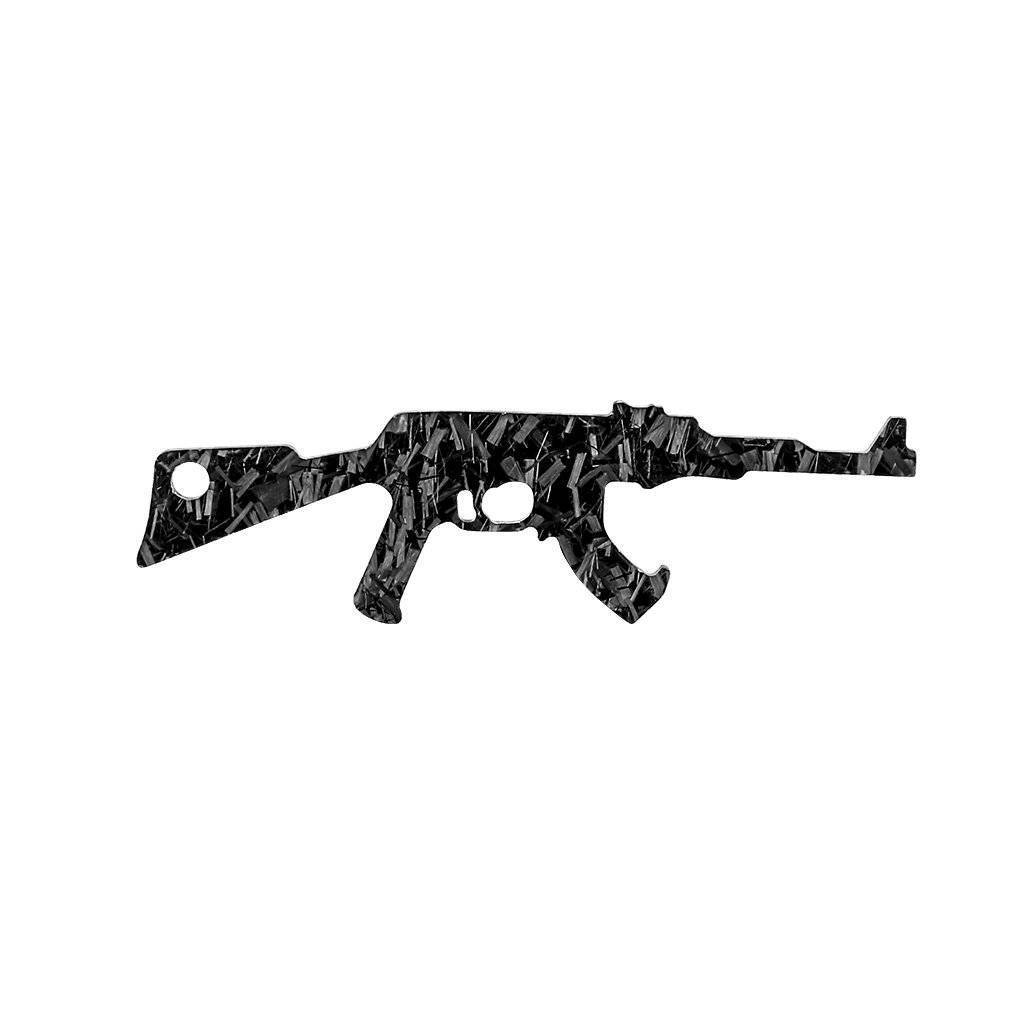 Forged Carbon Fiber AK-47 Shaped Keychain & Bottle Opener [Limited