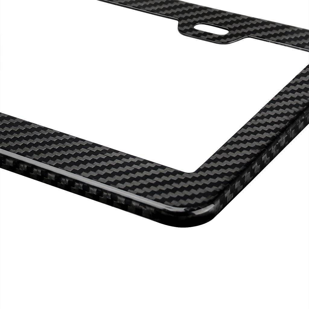 Real Carbon Fiber Car License Plate Frame