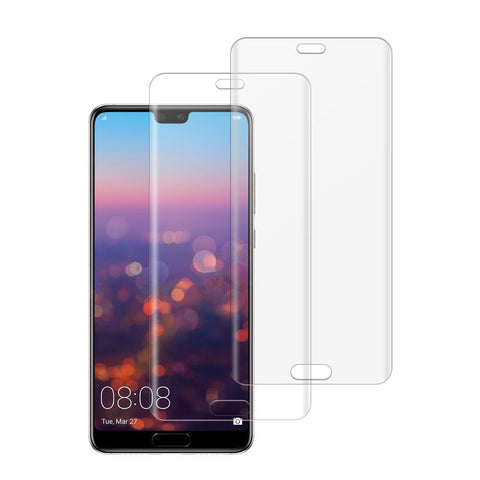 (Huawei P20 PRO) Shatterproof 3D Curve Screen Guard (2 Pack)