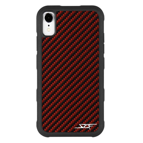iPhone XR Red Carbon Fiber Case | ARMOR Series