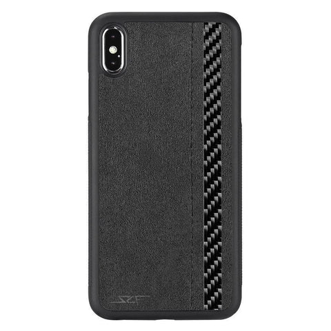iPhone XS Max Alcantara & Real Carbon Fiber Case | CLASSIC Series