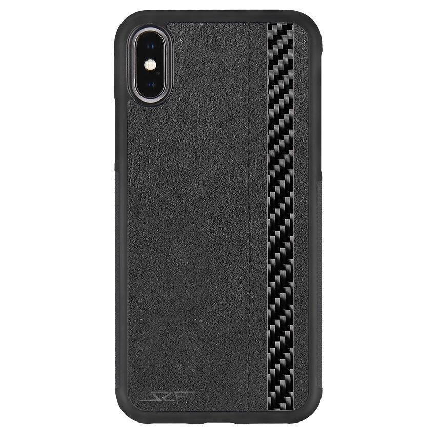 iPhone X & XS Alcantara & Real Carbon Fiber Case | CLASSIC Series