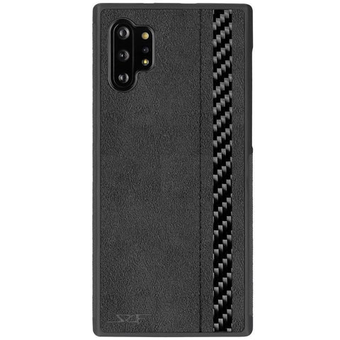 Galaxy Samsung Note 10+ Alcantara & Real Carbon Fiber Phone Case