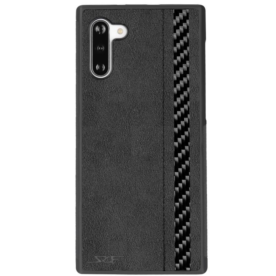Galaxy Samsung Note 10 Alcantara & Real Carbon Fiber Phone Case