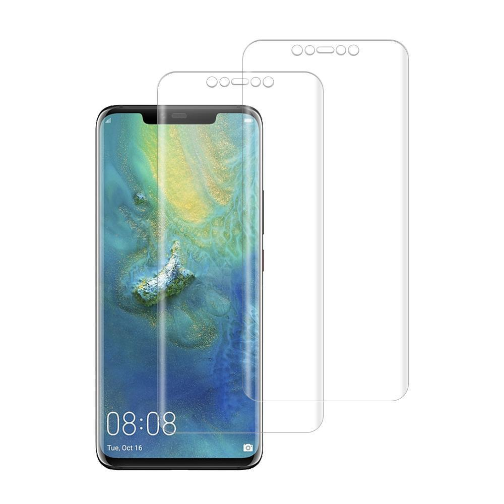 (Huawei Mate 20 Pro) Shatterproof 3D Curve Screen Guard (2 Pack)